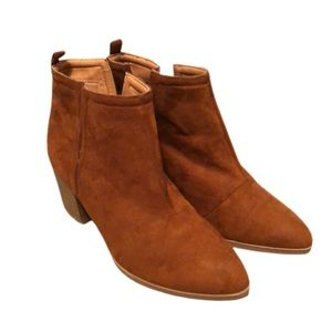 Daytrip Cappucino Ankle Vegan Suede Chunky Boots